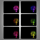 Vector of abstract tree icon Stock Images