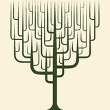 Vector of abstract tree icon Royalty Free Stock Photo
