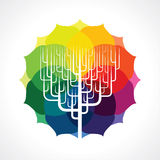Vector of abstract tree icon Stock Image