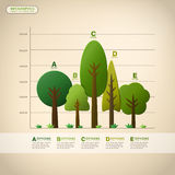 Vector abstract tree infographics Royalty Free Stock Photography