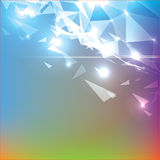 Vector Abstract Triangle Background. Vector Modern Background Formed by Triangles in Abstract Style Royalty Free Stock Photo