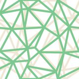 Vector Abstract Triangle Geometrical Green Outlines Background. Suitable for textile, gift wrap and wallpaper royalty free illustration