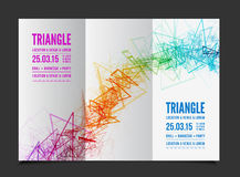 Vector abstract triangle outline Royalty Free Stock Photos