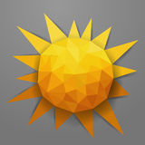 Vector abstract triangle summer sun Royalty Free Stock Photos