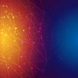 Vector abstract triangles background Stock Images