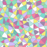 Vector abstract triangles pattern, honeycomb grid handdrawn backdrop Royalty Free Stock Photos