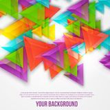 Vector abstract triangles template. Object web Stock Photography