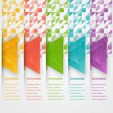 Vector abstract triangles template. Object web Royalty Free Stock Images