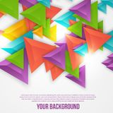 Vector abstract triangles template. Object web Royalty Free Stock Photos