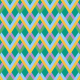 Vector abstract zigzag linear pattern. Modern stylish texture. Repeating two-color double lines Royalty Free Stock Photography