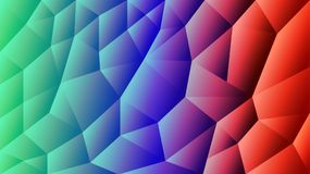 Vector abstract triangulated background | Gradient red and blue background | Illustrator Design stock illustration