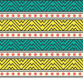 Vector Abstract Tribal Ethnic Pattern Background Illustration Royalty Free Stock Photos