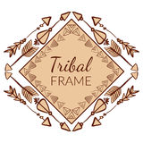 Vector Abstract Tribal Frame Royalty Free Stock Photo