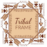 Vector Abstract Tribal Frame Stock Image