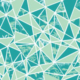 Vector abstract tropical palm trees and triangles seamless repeat pattern design. Great for modern fabric, wallpaper Stock Photos