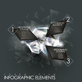 Vector abstract twinkle gem infographic elements. 3d modern vector abstract twinkle gem infographic elements Royalty Free Stock Image