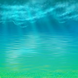 Vector Abstract Under Water Background Royalty Free Stock Photo