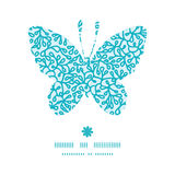 Vector abstract underwater plants butterfly Stock Photo