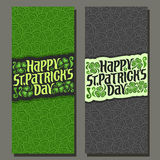 Vector abstract vertical Banner for St Patrick`s Day vector illustration