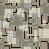 Vector abstract vierkanten naadloos vitage grijs-gekleurd patroon Royalty-vrije Stock Foto's