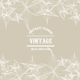 Vector abstract vintage flower outline template Royalty Free Stock Photography