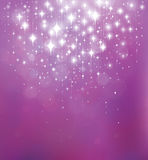 Vector abstract violet  background with lights and stars. Stock Photo