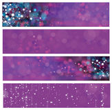 Vector abstract violet banners. Stock Images