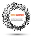 Vector abstract water and circle. Royalty Free Stock Photo