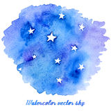 Vector abstract watercolor background with paper texture. Royalty Free Stock Images