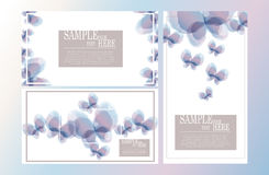 Vector abstract watercolor butterfly template design set II Royalty Free Stock Image