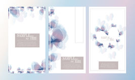 Vector abstract watercolor butterfly template design set Stock Image