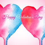 Vector abstract watercolor heart for valentines day or wedding. Royalty Free Stock Photos
