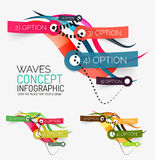 Vector abstract wave infographic Royalty Free Stock Images