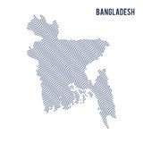 Vector abstract wave map of Bangladesh isolated on a white background. Stock Photography