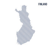 Vector abstract wave map of Finland isolated on a white background. Royalty Free Stock Image