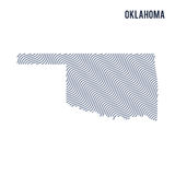 Vector abstract wave map of State of Oklahoma isolated on a white background. Stock Photography