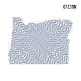 Vector abstract wave map of State of Oregon isolated on a white background. Stock Photos