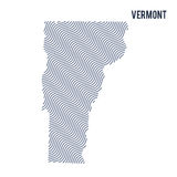 Vector abstract wave map of State of Vermont isolated on a white background. Stock Photography