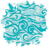 Vector abstract waves background Royalty Free Stock Photos