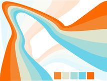 Vector abstract wavy background design. Illustration Royalty Free Illustration