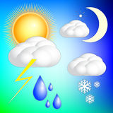 Vector abstract weather image set Royalty Free Stock Image