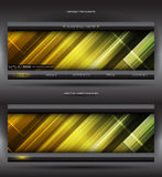 Vector abstract web banner Royalty Free Stock Photography