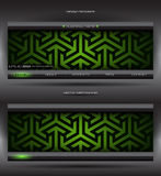 Vector abstract web banner Royalty Free Stock Photos