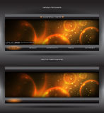 Vector abstract web banner Stock Image