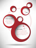 Vector Abstract Web Design Bubble Background Stock Photography