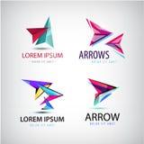 Vector abstract web logo, arrow set Stock Image