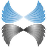 vector abstract wing flying logo company emblem Stock Photos