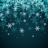 Vector Abstract Winter Background from Snowflakes Royalty Free Stock Images