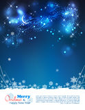 Vector Abstract Winter Night Background Royalty Free Stock Image