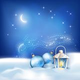 Vector Abstract Winter Night Background Royalty Free Stock Photo